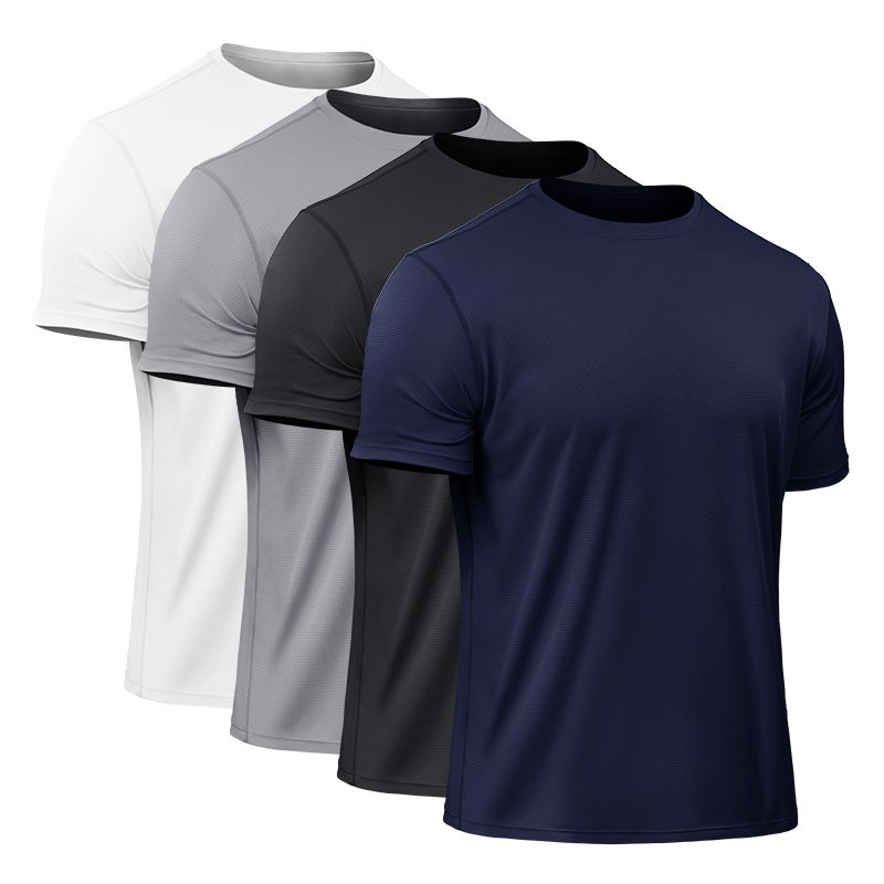 T-Shirts Short-Sleeve Tight-Fitting-Tops Compression Fitness High-Elastic Quick-Dry Tennis-Soccer
