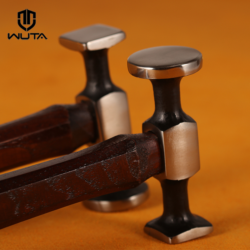 WUTA Original Design Carbon Steel Double Head Hammer Smooth Mallet Professional Leather Craft Tool Leather Punching Easily-1pcs