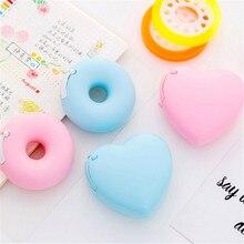 Карамельный цвет резак для малярной ленты дизайн сердце любовь/пончик форма васи ленты резак офисные ленты диспенсер школьные офисные принадлежности