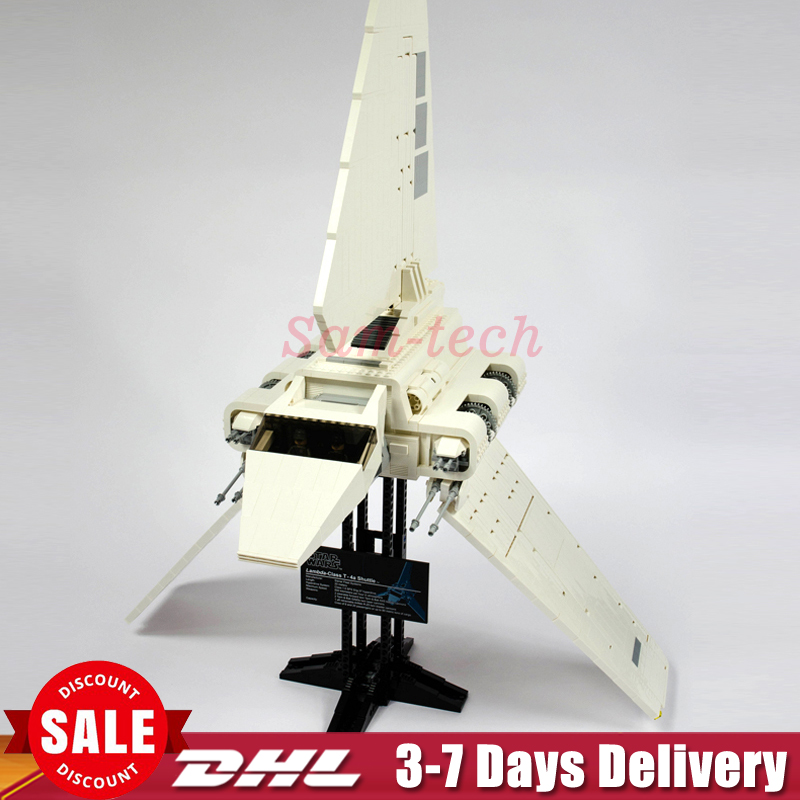 In Stock Fit For 10212 LEPIN 05034 2503Pcs 2018 New UCS Imperial Shuttle Model Kits Building Blocks Bricks Gift Toy MOC new lepin 05034 2503pcs imperial shuttle model building kit blocks bricks compatible children toy gift with 10212