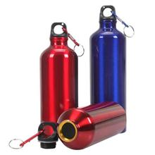 Portable Water Bottle 400ml 500ml 600ml Outdoor Exercise Plastic Bike Sports Water Bottles Drinking Aluminum Material Easy to Ca new 400 600ml 3 color solid plastic spray cool summer sport water bottle portable climbing outdoor bike shaker my water bottles
