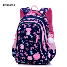 Cute Cartoon Printed Girls School Backpack Primary School Student Bookbag Multi Compartment Satchel Knapsack Mochila Infantil цена