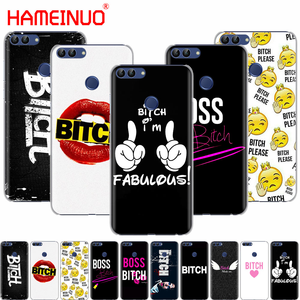 Boss Bitch mode on pink cell phone Cover Case for huawei Honor 7C Y5 Y625 Y635 Y6 Y7 Y9 2017 2018 Prime PRO ...