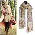 Women's Bohemian Warm Knitted Scarf Wrap Shawl Scraves Nation Patterns QL58