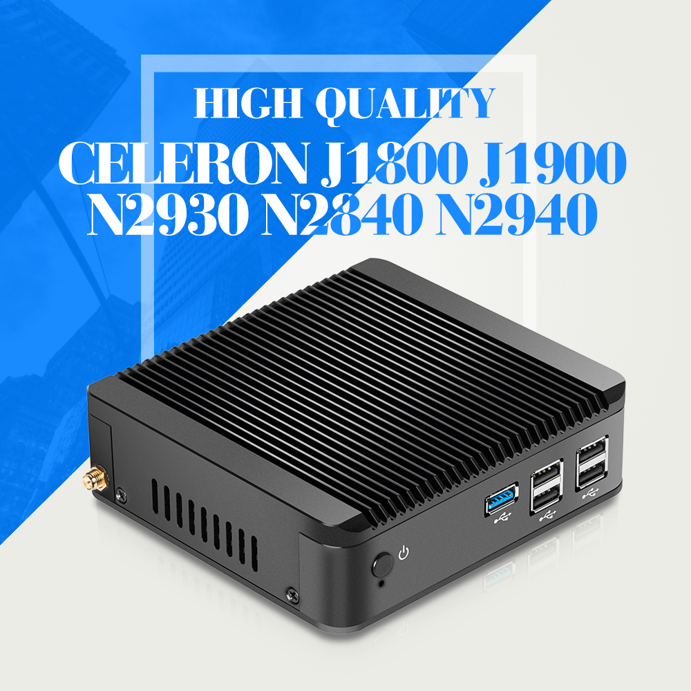 mini pc desktop computer office mini computer Celeron J1850 J1900 N2830 N2930 N2840 N2940 CPU htpc tv box gaming pc thin client