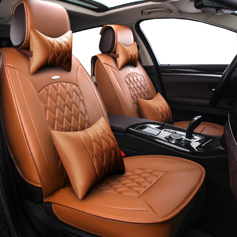 New Pu leather Auto Car Seat Covers Universal Automotive car seat cover for Lifan Solano X50 X60 320 seat covers car accessories linen universal car seat cover for dacia sandero duster logan car seat cushion interior accessories automobiles seat covers