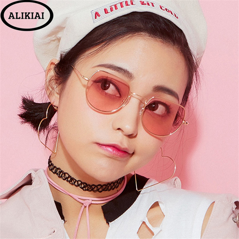 Trend Mark Alikai 2019 New Sunglasses Women Retro Metal Sunglasses Transparent Sea Glasses Glasses Trend Glasses Sunglasses Girls Uv400 Fragrant Aroma Women's Glasses Women's Sunglasses