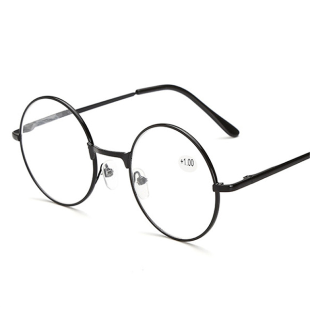 Kaleidoscope Glasses Vintage Round Metal Spring Legs Reading Glasses Retro Men Women Mirror Eyeglasse Metal Frame Red Eyewears