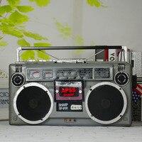 A шт Ретро винтажный Железный рекордер модель домашнего мягкого украшения реквизит для фотосъемки радио украшения подарки AP5181649