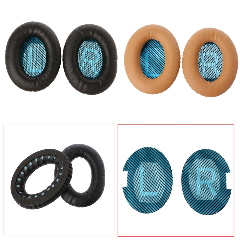 OOTDTY 1 Pair Protein Leather Ear Pads For Bose Quietcomfort 2 QC25 AE2 QC2 QC15 Headphone