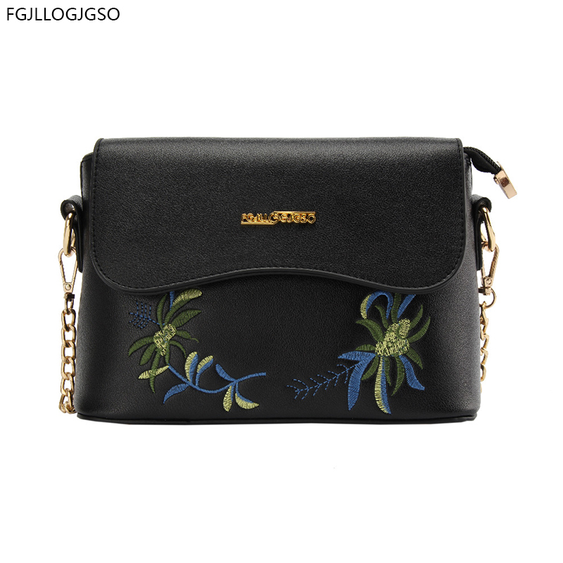 2017 New Hot women embroidery Flap messenger bag Lady contracted crossbody bag Women's Fashion single shoulder bag female small free shipping new fashion brand women s single shoulder bag lady messenger bag litchi pattern solid color 100