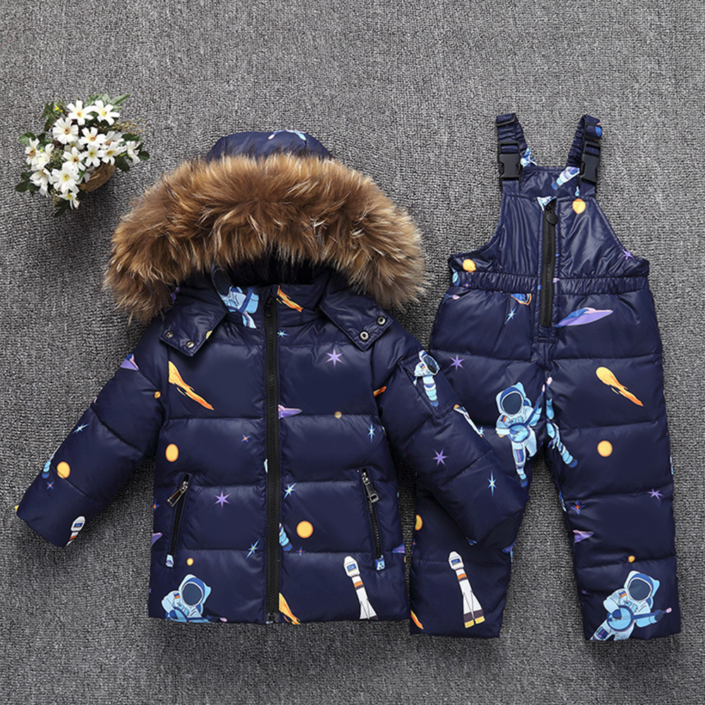 New Winter Warm Down Jacket for Baby Girl Clothes Child Clothing Sets Boys Parka Real Fur Coat Kids Snow Wear Infant Overcoat 30 degree russia winter warm down jacket for baby girl clothes children clothing sets boys parka real fur coat kids snow wear