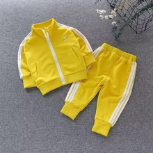 2019 Children Boys Sport Suits Clothing Spring Casual Wear Long Sleeve Baseball Zipper Coat+Pant Clothing Set Kids Tracksuit недорого