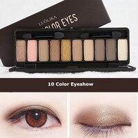 LOULIKA Alta Calidad 10 Colores paleta de Sombra De Ojos De Diamante Marca Pigmento Brillo Sombra de Ojos Maquillaje Paleta de Sombra de Ojos A Prueba de agua