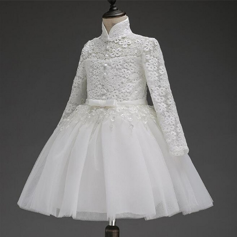2017 Flower Girl Dress For Wedding Pageant Prom Party White Lace Dress Baby Kids Clothes Toddler Children Events Special Gown girls dress 2017 new summer flower kids party dresses for wedding children s princess girl evening prom toddler beading clothes