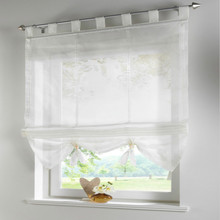 2pcs finished products roman blinds can lift balcony curtains for the kitchen,cafe,window curtains for home decoration