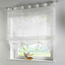 Productos acabados persianas romanas pueden levantar balcón cortinas para la cocina, cafetería, cortinas de la ventana para la decoración casera