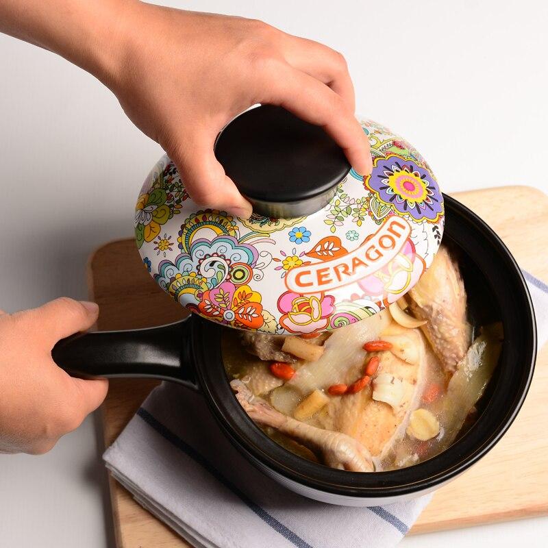 Керамическая высокотемпературная кастрюля для приготовления пищи кастрюля для малышей с ручкой емкость для молока Горшочек для каши stew - 2