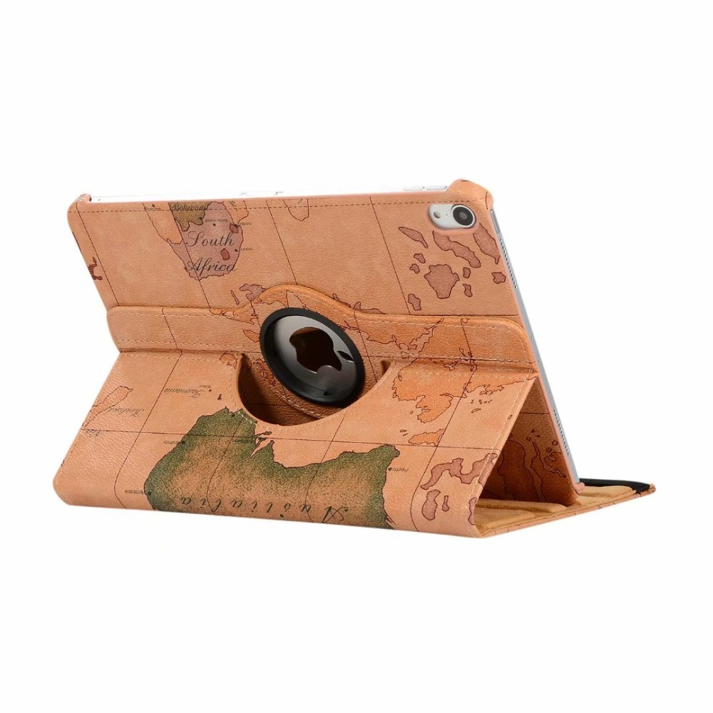 360 Degree Rotating Smart PU Leather Case for iPad Pro 11 2018 New Tablet Funda Cover Shell With Map Print fro ipad pro 11 inch360 Degree Rotating Smart PU Leather Case for iPad Pro 11 2018 New Tablet Funda Cover Shell With Map Print fro ipad pro 11 inch