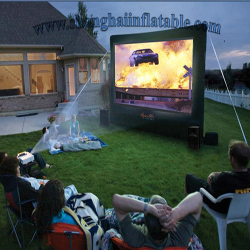 Customized Inflatable Film Screen Inflatable Movie Screen Oxford Cloth Inflatable Projection Movie Screen