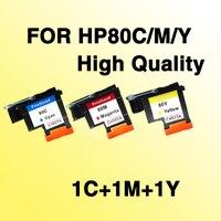 Kompatybilny dla hp 80 kolor głowicy drukującej C/M/Y C4821A C4822A C4823A kompatybilny dla hp 80 Designjet 1000 1050c 1055cm w Części drukarki od Komputer i biuro na