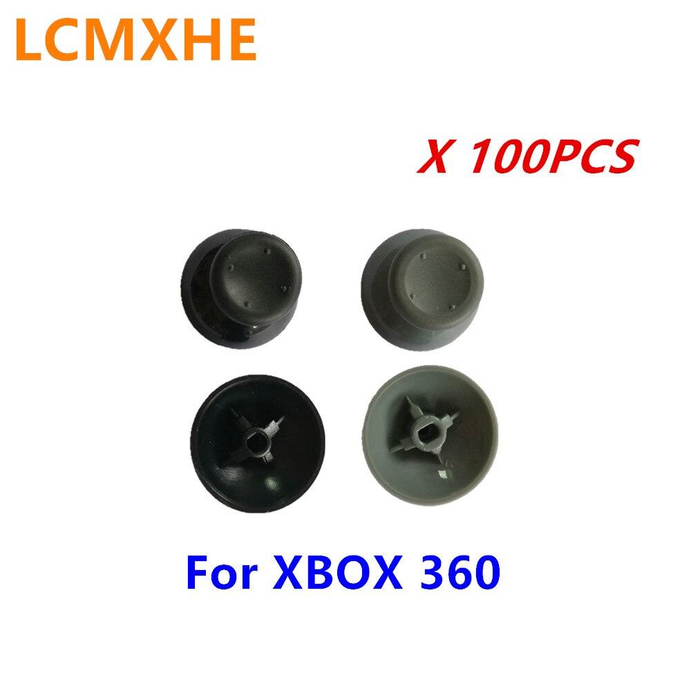 100 Pc Zwart Voor Xbox 360 Analoge Sticks Caps Plastic Paddestoel Thumbstick Voor Xbox360 Bedrade Draadloze Controller Joystick Reparatie