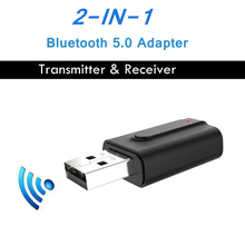For TV PC Car Stereo Bluetooth 5.0 Audio Receiver Transmitte