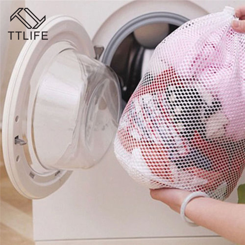TTLIFE Home Drawstring Bra Underwear Products Nylon Laundry Bags Household Cleaning Tools Wash Care Foldable Protect Net