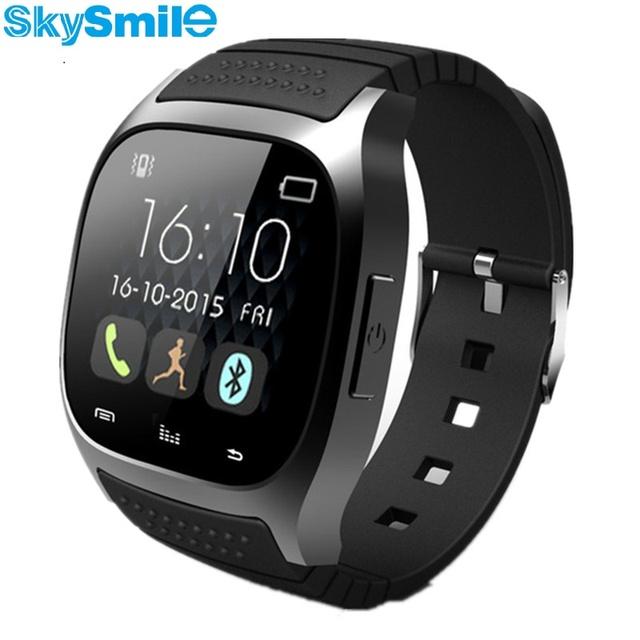 Skysmile originais smartwatch m26 bluetooth smart watch android phone para apple iphone ios leitor de música sms pedômetro cronômetro