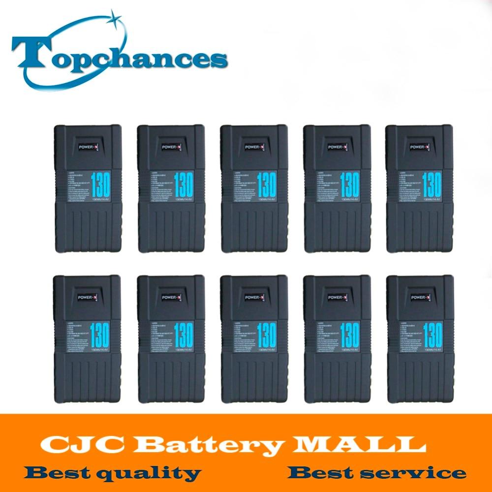 Wholesale 10pcs  New High Quality BP-130S 130Wh POWER-U 14.8V 130W V-Mount Li-ion Battery For SONY 600p 650P Fast Shipping high quality 3pcs bp 130s 130wh power u 14 8v 130w v mount li ion battery for sony 600p 650p