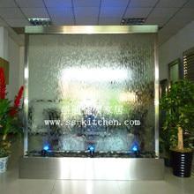 Фонтан для внутренней воды/водопад из нержавеющей стали/водяной занавес/стеклянная водная стена/садовый водяной экран предметы мебели