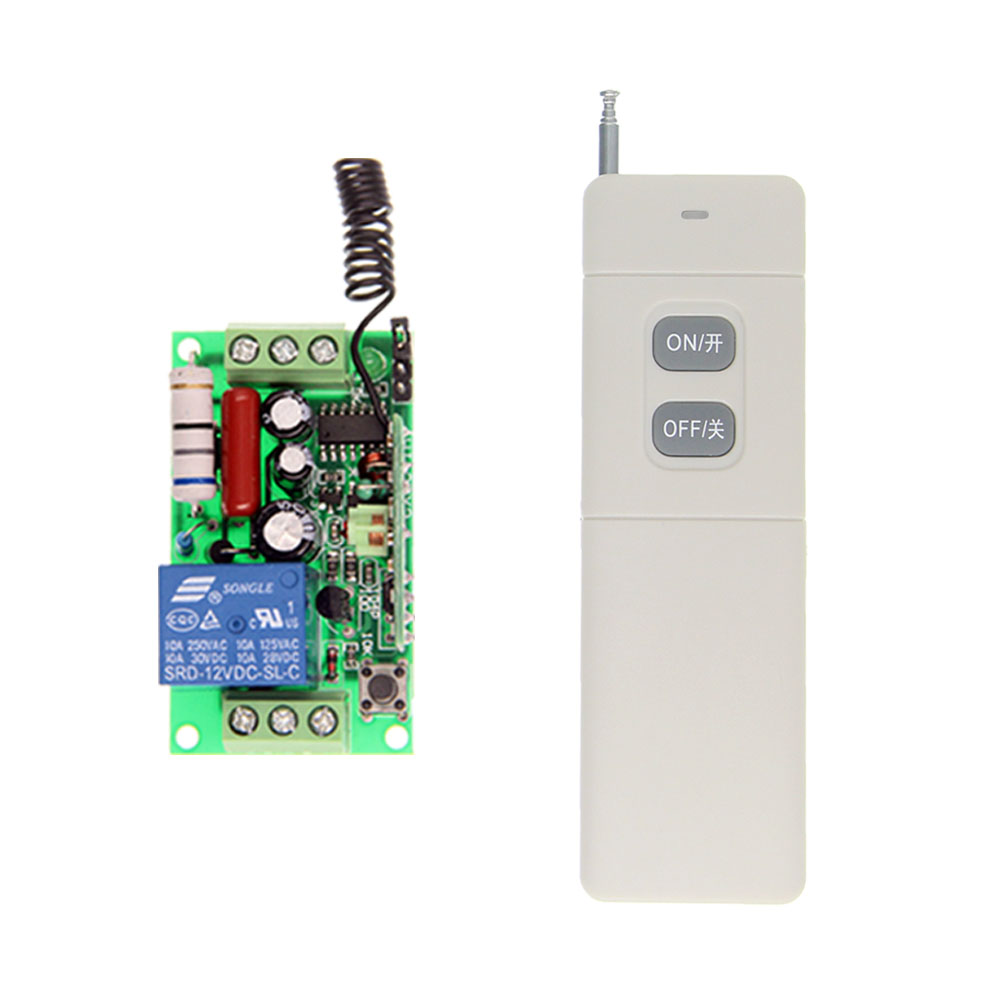 3000m High Power AC 220V 110V 1 CH 1CH RF Wireless Remote Control LED Light Bulb Switch System,Transmitter + Receiver,Latched