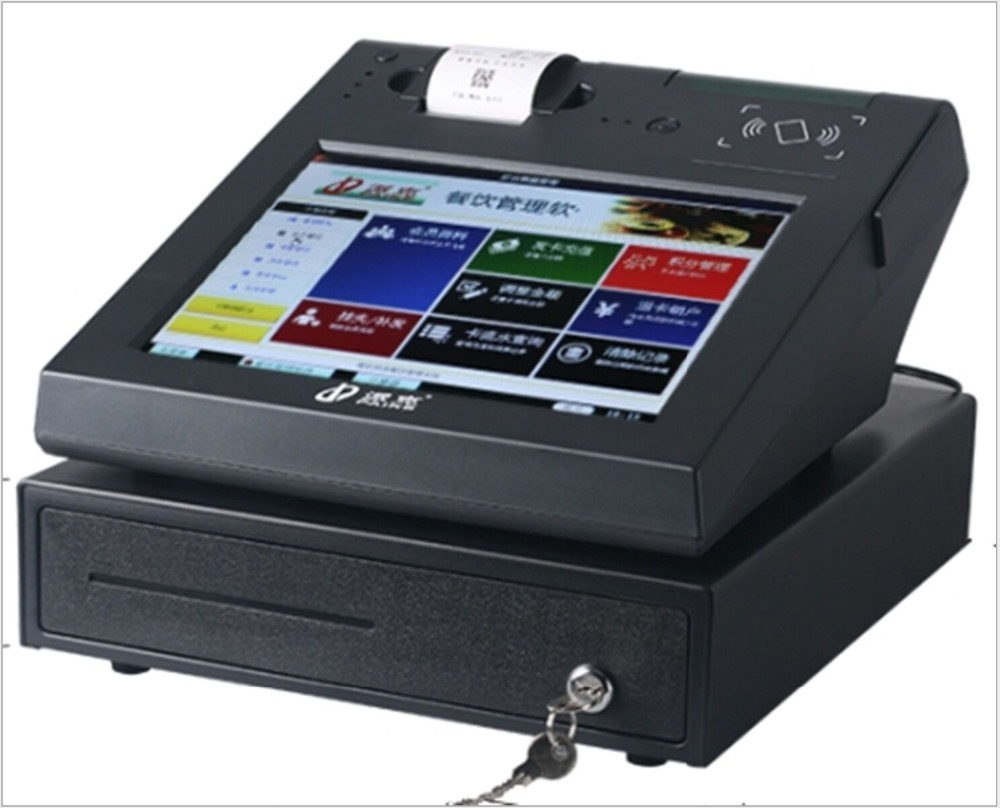 12 Inch All In One Touch Screen Pos System With English Software