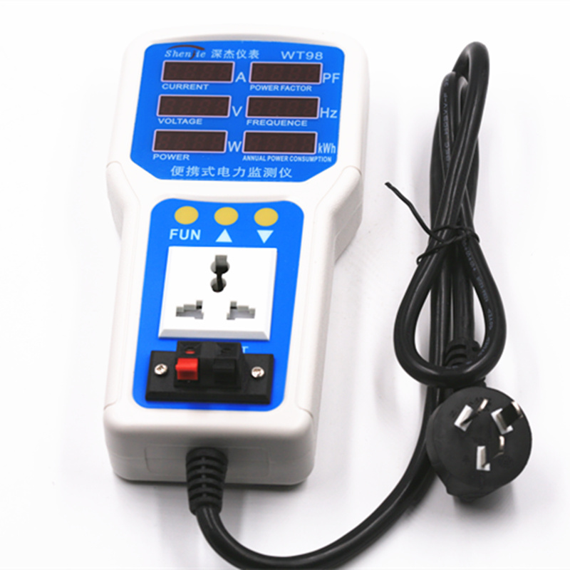 85V-265V 20A Handheld Portable intelligent electricity meter LED Electric Power Energy Monitor Tester Socket Watt Meter Analyzer hp9800 pc usb port 4500w 85v 110v 220v 265v ac 20a electric power energy monitor tester watt meter analyzer with socket output