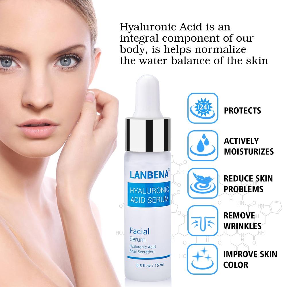 Hyaluronic Acid Serum Snail Serum Essence Acid Anti Wrinkles Face Acne Skin Repair Anti-Aging Moisturizing Whitening Skin Care  (5)