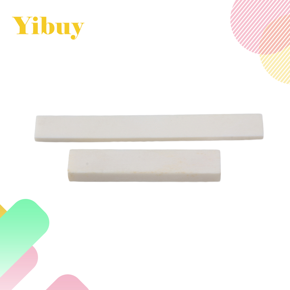 Yibuy Acoustic Guitar Blank bone nut and saddle Set