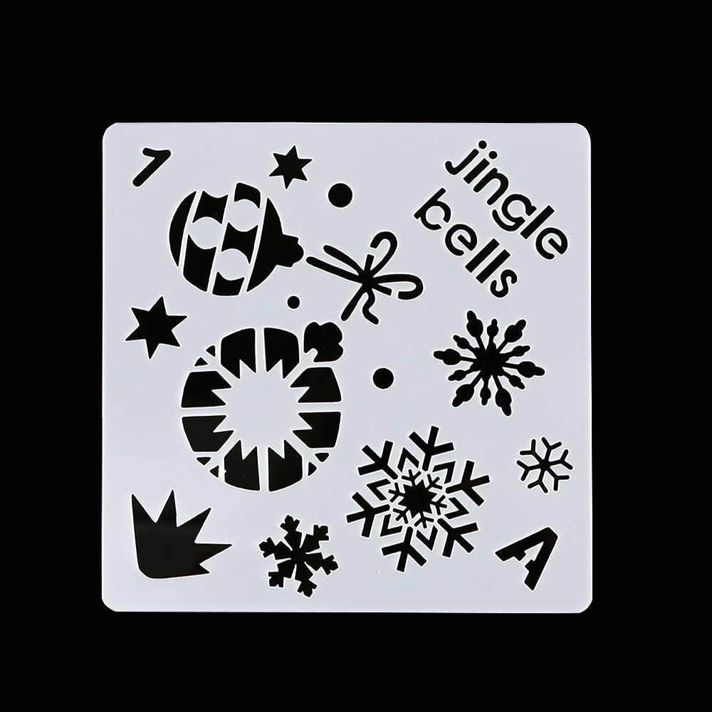 1 pc tema de natal estênceis em camadas para paredes pintura scrapbooking carimbo decoração álbum de papel em relevo modelo de cartão diy artesanato