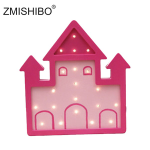 Image 2 - ZMISHIBO Eye catching Night Light Girl Style Castle Cake Car Rainbow Children Lamps Kids Baby Bedroom Home Decorative Lighting