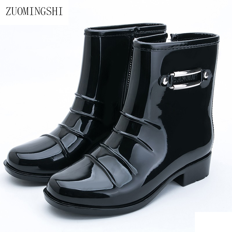 2018 NEW TOP rain boots women bot black rainshoes galoshes rubber rain boot rain shoes rainboots women botas femininas clouds without rain