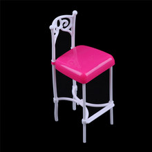 1PC 1:12 Scale Plastic Bar Chair Dollhouse Miniature Furniture For Doll House Decor Dolls Accessories kids play house toy(China)