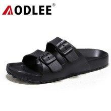 AODLEE Plus rozmiar 45 moda mężczyźni sandały Slip On oddychające marki letnie sandały plażowe mężczyźni slajdy obuwie sandalias hombre
