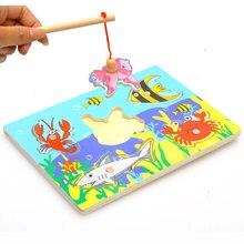 Educativos juguetes образование магнитные головоломки деревянные доска игры рыбалка игрушки детские