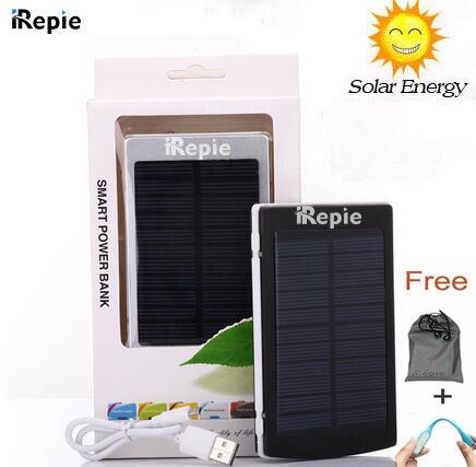 IRepie Настоящее 15000 мАч Внешней Солнечной Энергии Банк Зарядное Устройство 15000 powerbank Для iPhone 6 7 For Samsung Сотовый Телефон таблетки