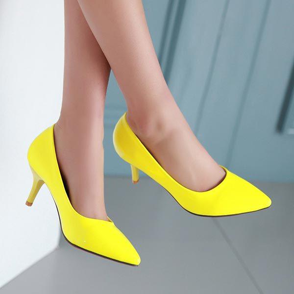 Popular Yellow Patent Heel-Buy Cheap Yellow Patent Heel lots from ...
