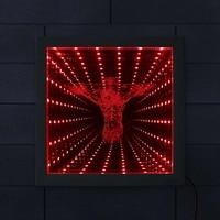 Jesus On Cross LED Lighting Infinity Mirror Tunnel Vision Wood Frame Christ Lighted Mirrors Religious Home Decor Christian Gift