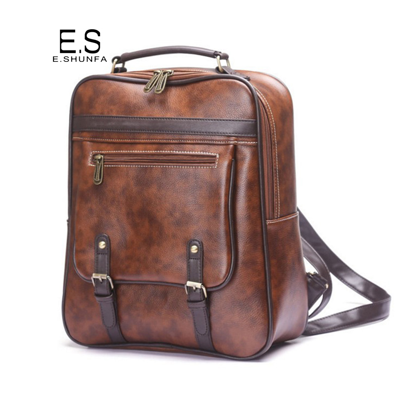 Fashion Vintage Backpack Women Bag 2018 New Arrival PU Leather Backpack Black Brown High Quality Casual Backpacks For Teens women backpack fashion pvc faux leather turtle backpack leather bag women traveling antitheft backpack black white free shipping