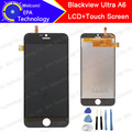 100% Original New LCD Display+Touch Screen  Digitizer Glass Panel Assembly For Blackview Ultra A6 Phone - Black and white