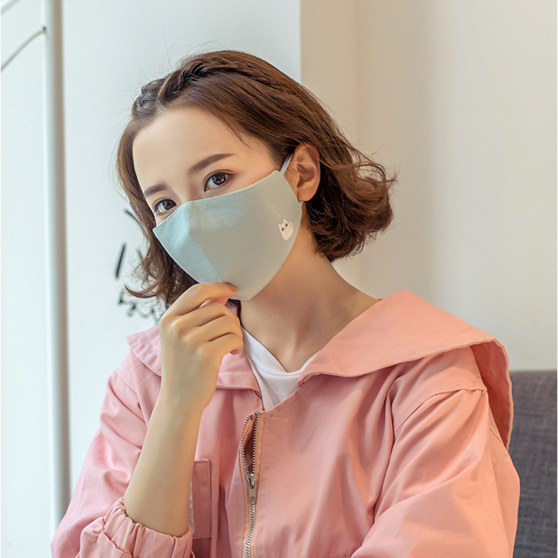 Japan Cartoon Cat Face Masks 2018 New Men Women Anti-bacterial Dust Masks Fashion Unisex Breathable Mouth Mask M008