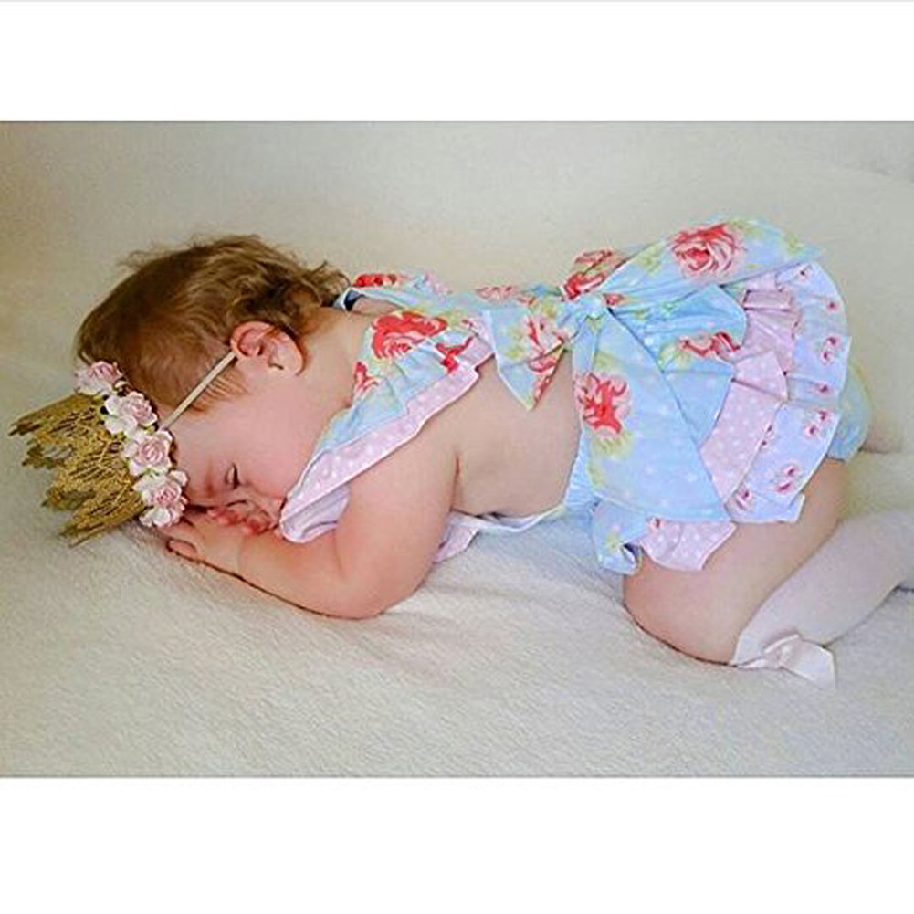2018 Summer Baby Girl Rompers Baby Girl Floral Romper Flower Newborn Baby Clothes Cute Baby Infant Girls Clothing