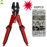 JSM High Carbon Steel Crimper Sleeves Tool Kit Wire Rope Swager Terminal Crimpers For Fishing Plier